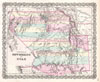 1855 Colton Map of Utah and New Mexico (first edition, first state) , Territories of New Mexico and Utah.