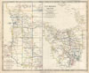 1849 S.D.U.K. Map of Tasmania or Van Diemen's Land and Western Australia , Van Diemen Island.  Western Australia Containing the Settlements of Swan River and King George's Sound from Surveys sent to the Colonial Office.