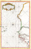 1865 Bellin Sea Chart of Western Africa ( Senegal, Gambia, Guinea, etc.) , Carte Reduite Des Costes Occidentales D�Afrique.