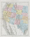 1864 Dower Map of the Western United States , United States No. 2.